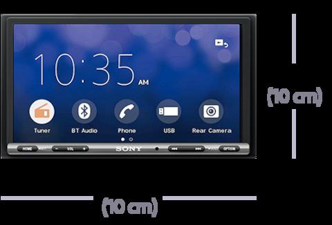 Bilde av 17,6cm (6,95-tommers) Apple CarPlay/Android Auto™ DAB-mottaker