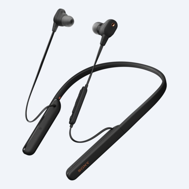Sony WI C200 Trådløse hodetelefoner med mikrofon Svart