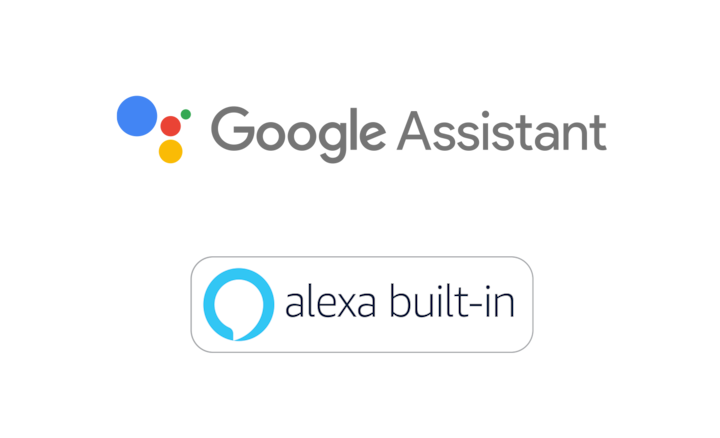 Logoer for innebygd Google Assistant og Alexa