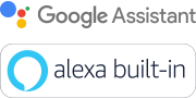 Google Assistant- og Amazon Alexa-logoer