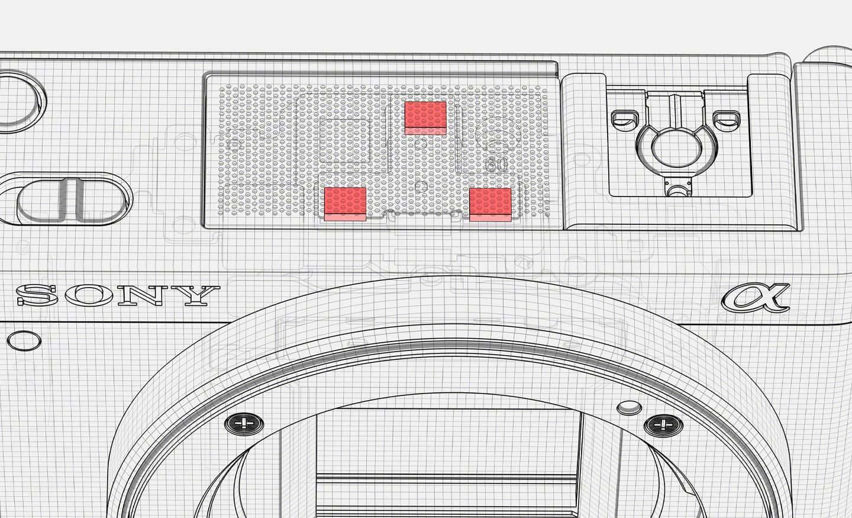 Et bilde som viser retningsbestemt mikrofon med tre kapsler inne i ZV-E10