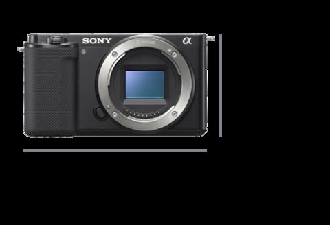 Kamera sett forfra med bredde på 115,2mm og høyde på 64,2mm