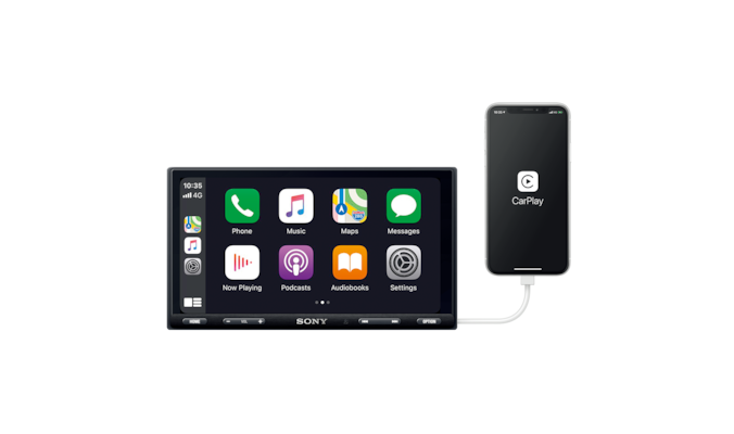 XAV-AX5550D – CarPlay