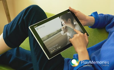 PlayMemories Online med Sony Tablet