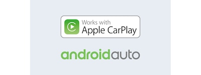 Apple CarPlay- og Android Auto-logoer