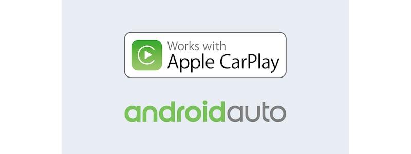 Apple CarPlay- og Android Auto-logoer
